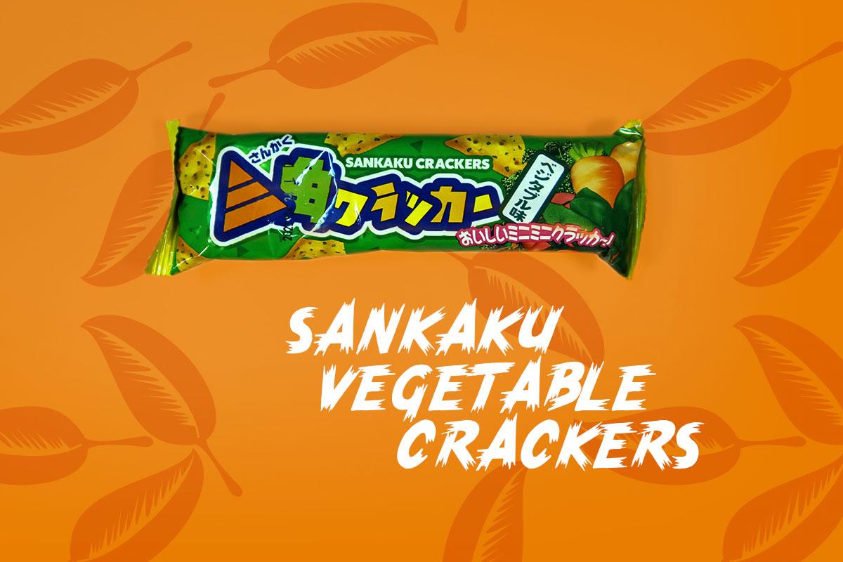 TokyoTreat box contents: Sankaku Vegetable Crackers