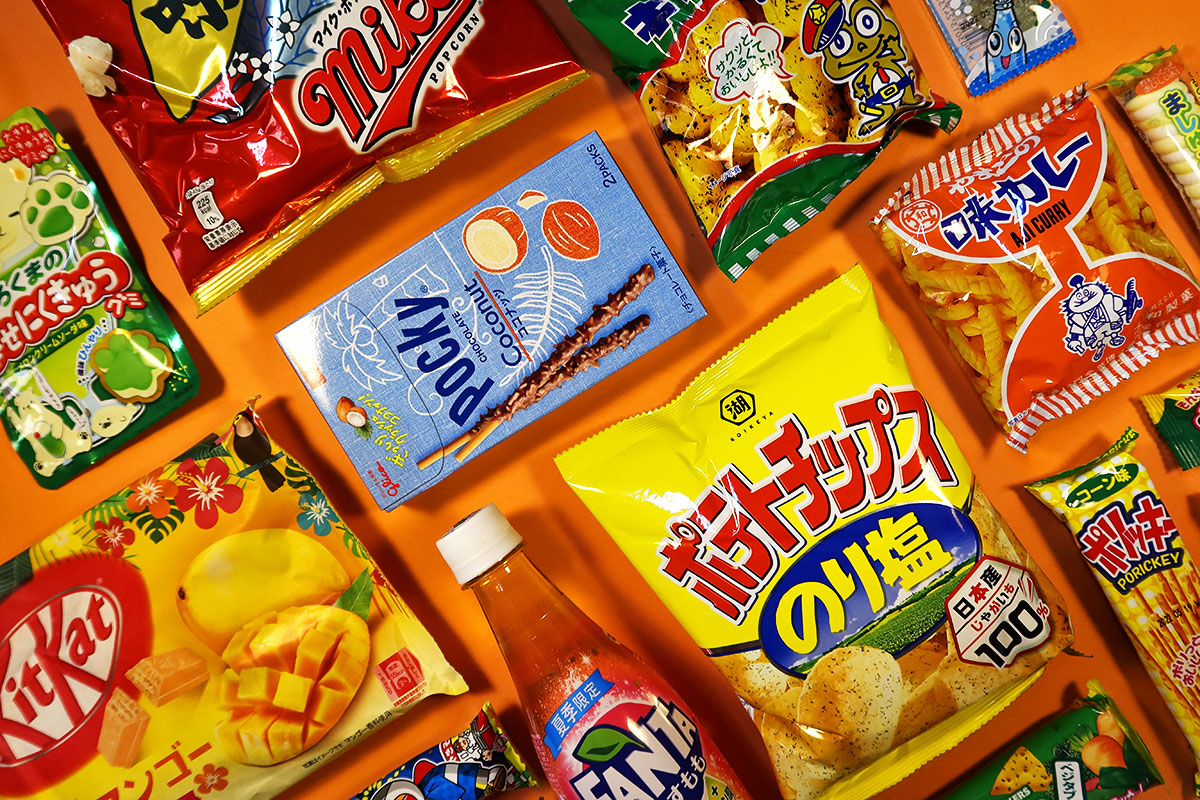 TokyoTreat box contents arranged on a table