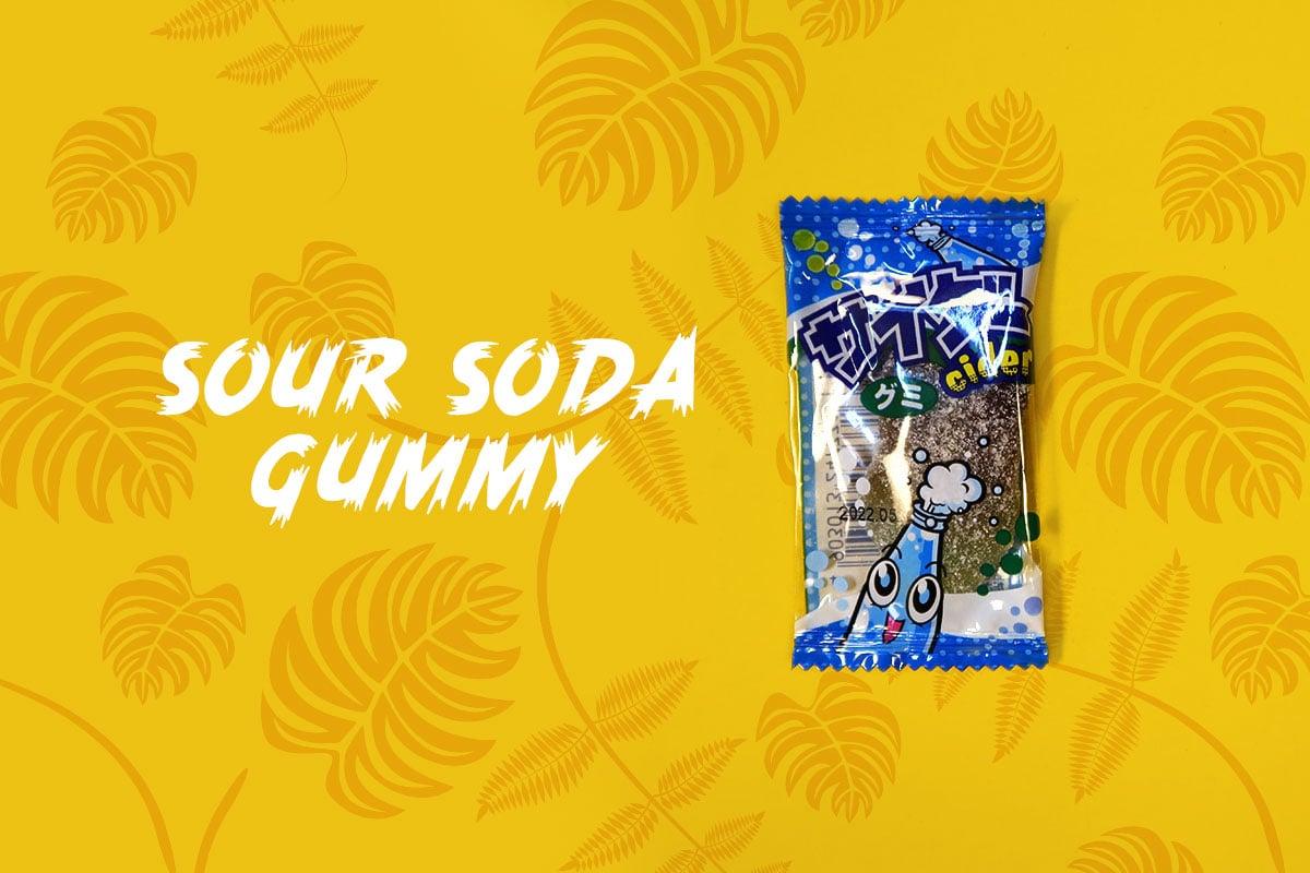 TokyoTreat box contents: Sour Soda Gummy