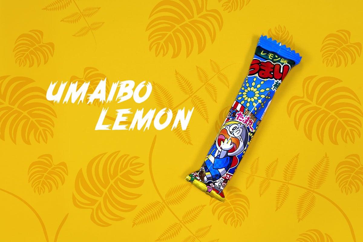 TokyoTreat box contents: Umaibo Lemon