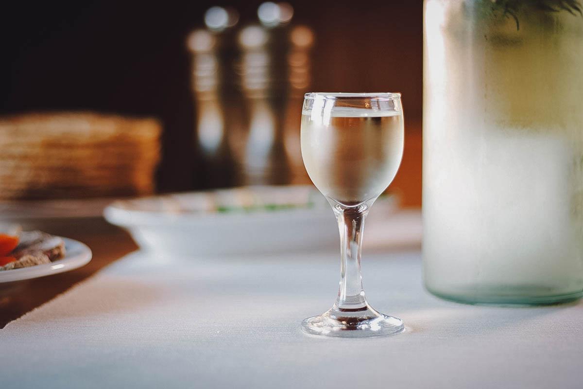 Glass of horilka