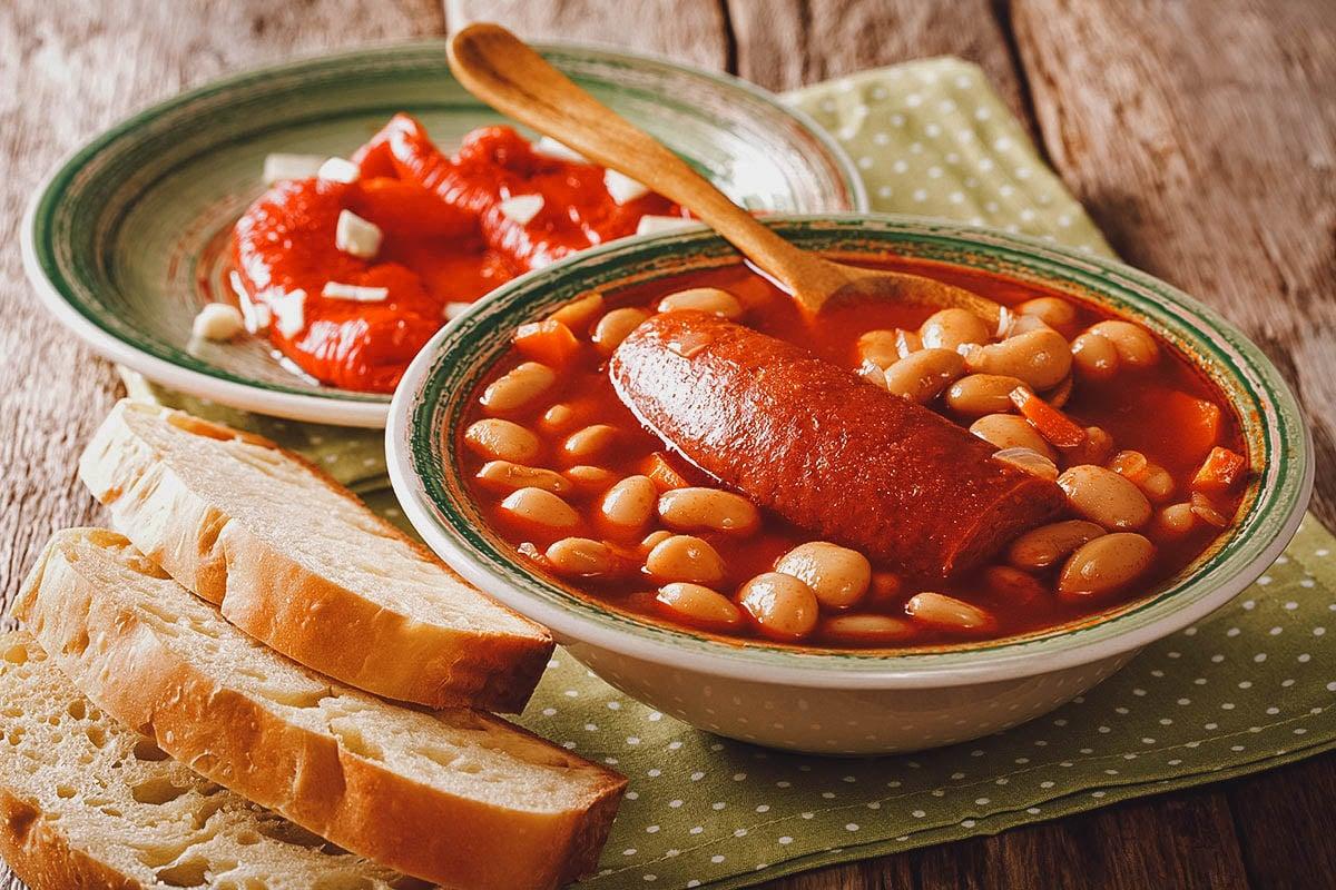 Grah, Croatian bean soup with smoked sausages