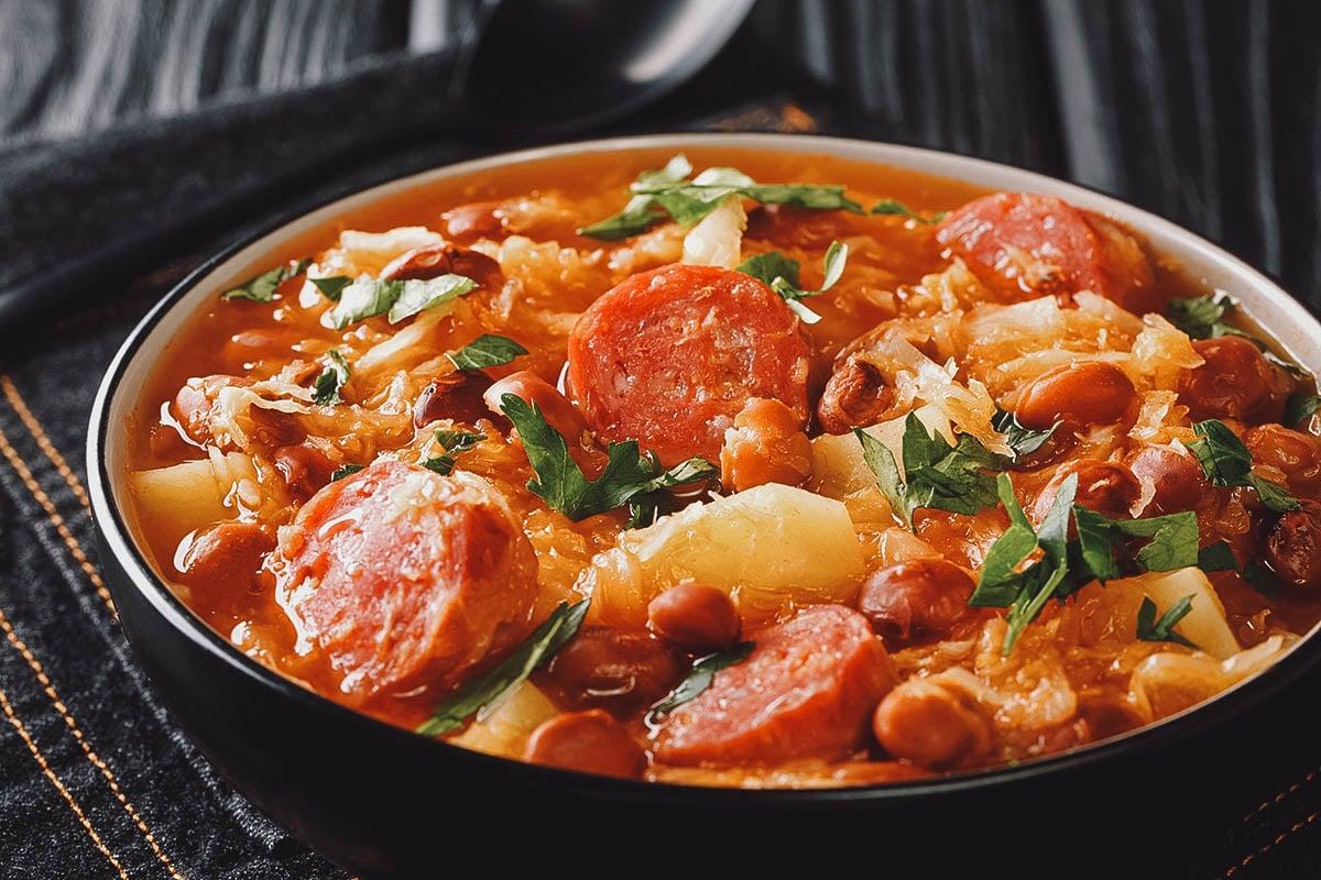 Jota (Istrian stew), a popular sauerkraut and bean soup