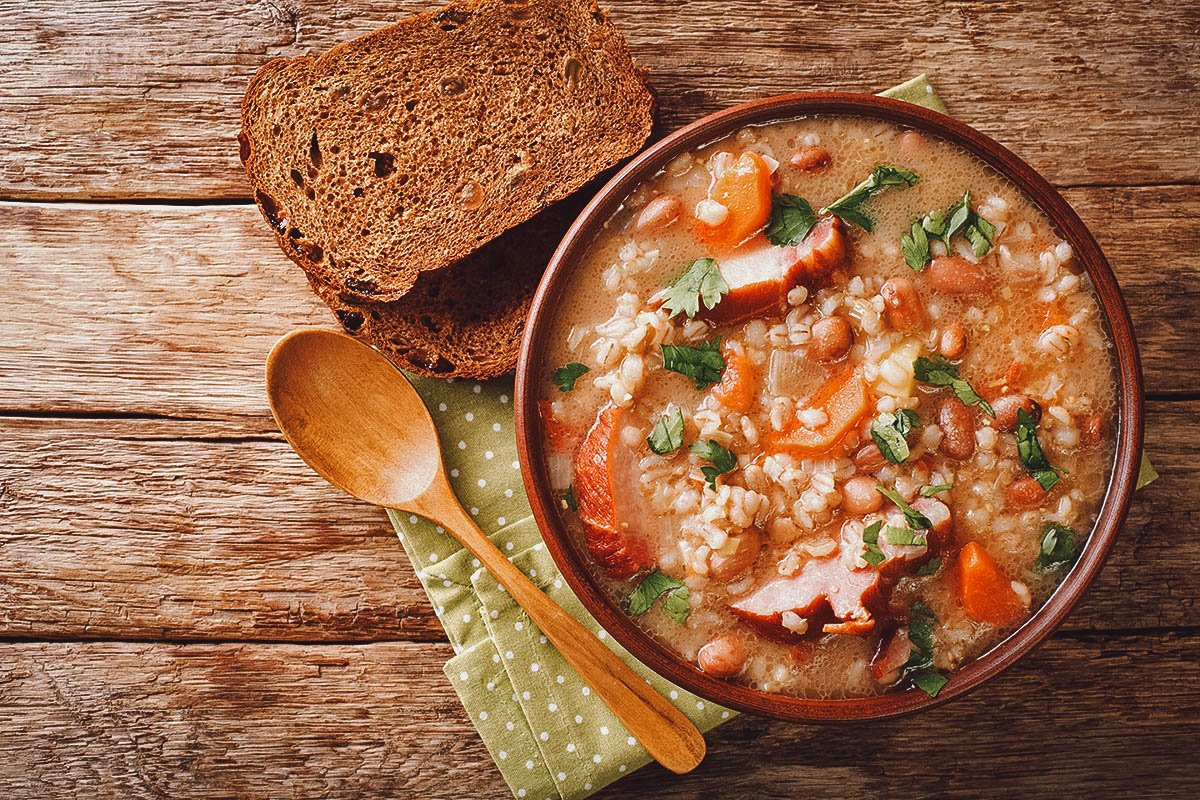 Ricet, a thick Croatian bean soup
