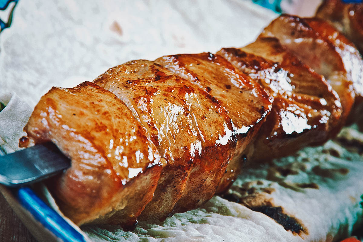 Sestinska pecenica, Croatian skewered and grilled pork