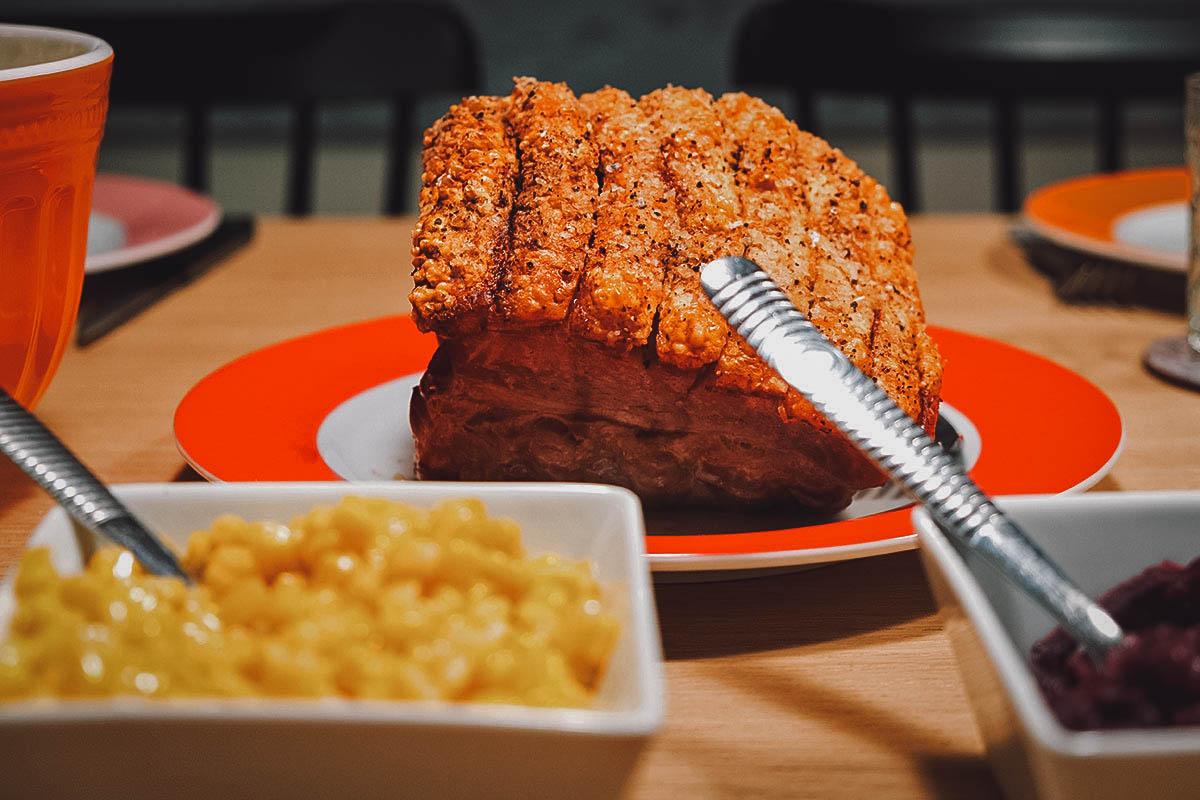 Flæskesteg, Danish pork roast with crispy pork skin