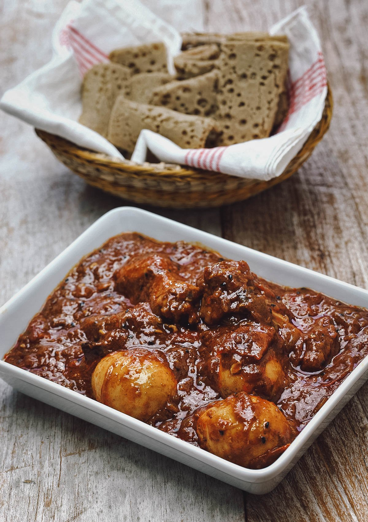 Doro wat, a popular chicken stew in Ethiopia