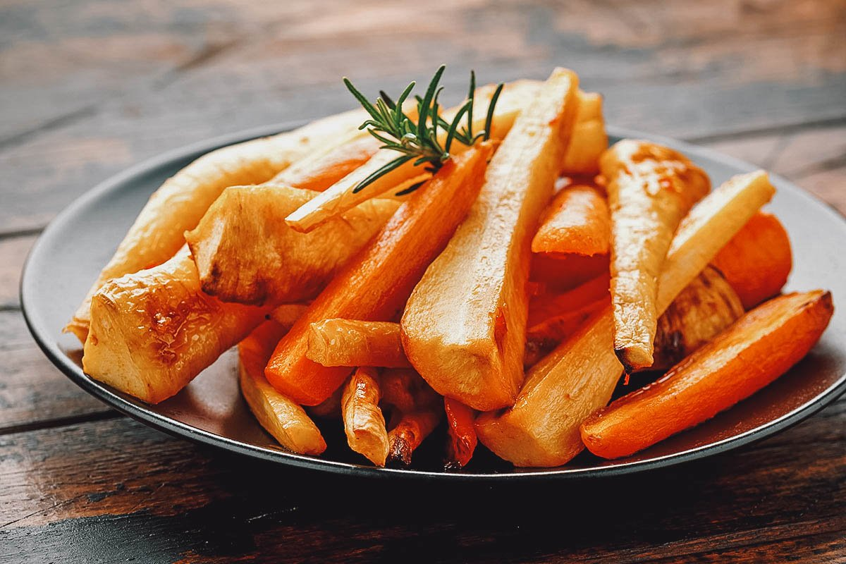 Honey glazed carrots and parsnips, a simple but delicious example of traditional Irish food