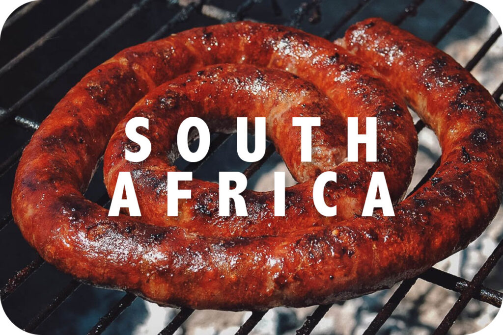 Boerewors on a grill