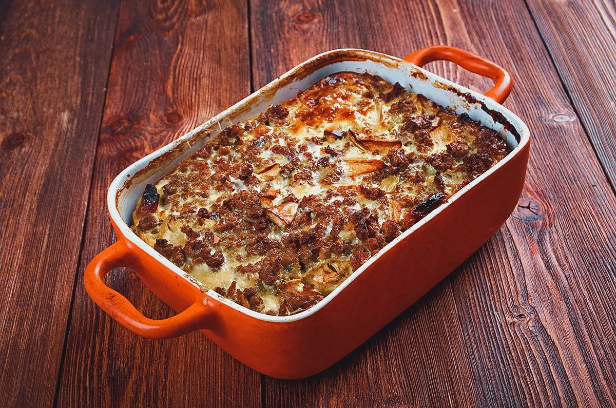 Bobotie, a national dish of South Africa