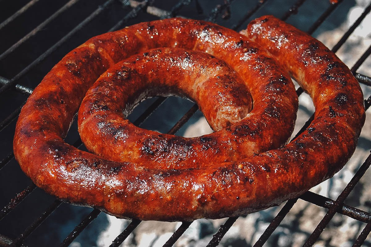 Boerewors or farmer sausage, one of the most popular South African foods