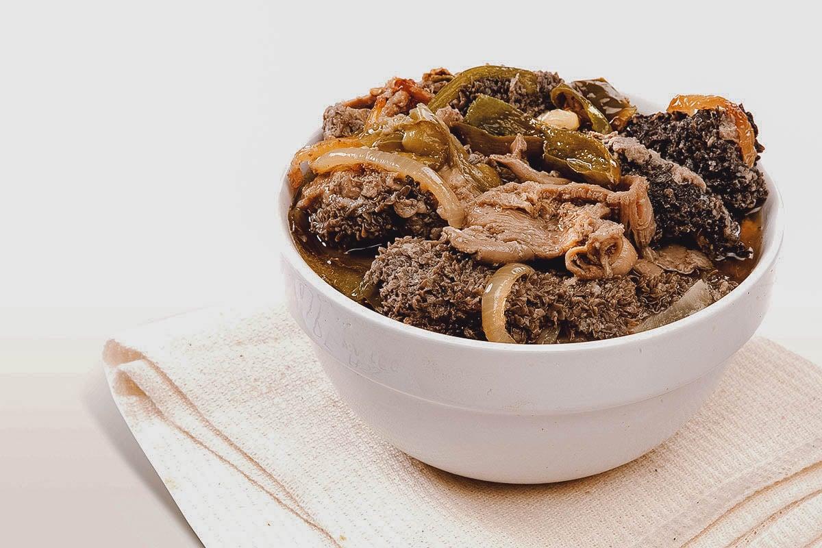 Mala mogodu, a stew made with tripe and intestines