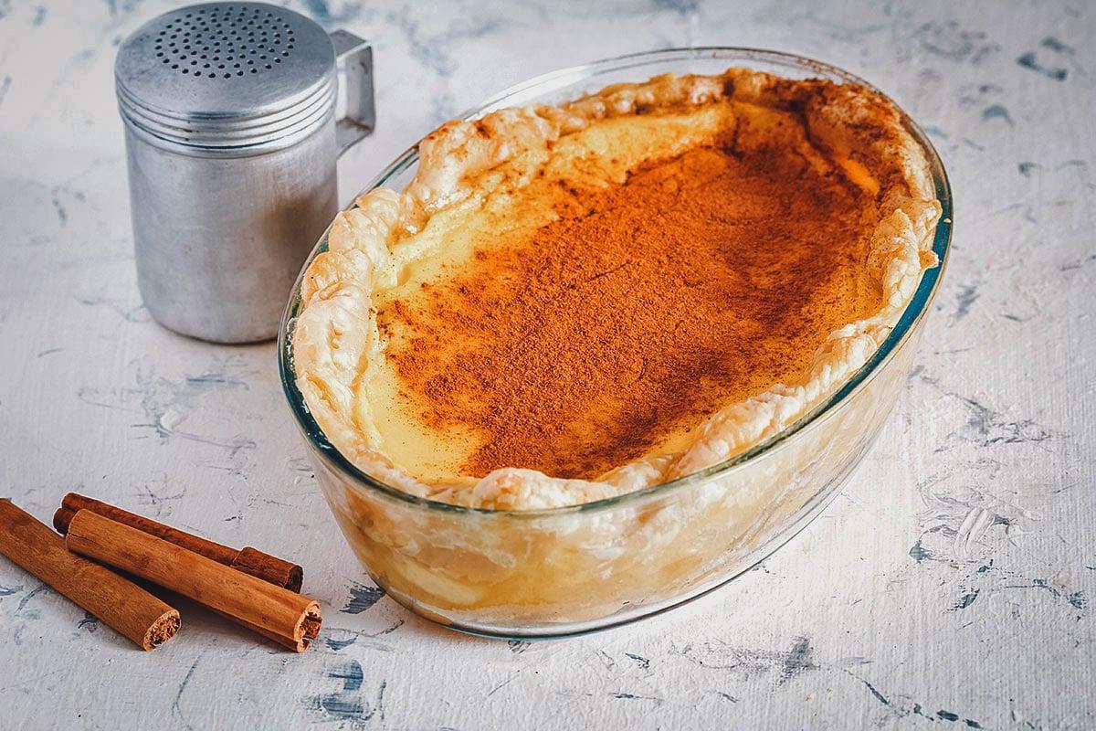 Melktert or milk tart, a popular South African dessert