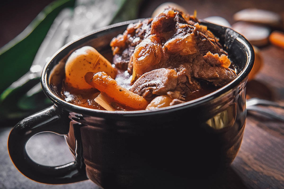 Potjiekos, a popular stew in South Africa