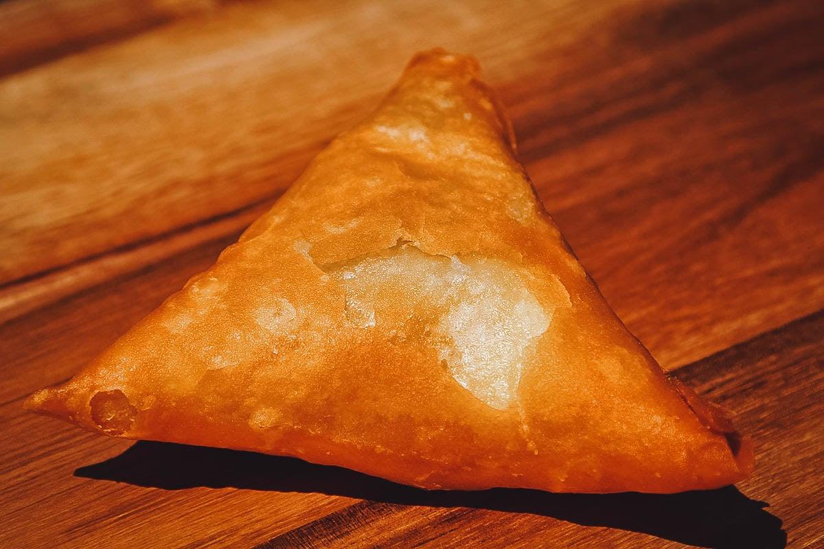 Samoosa, a dish of Indian origin
