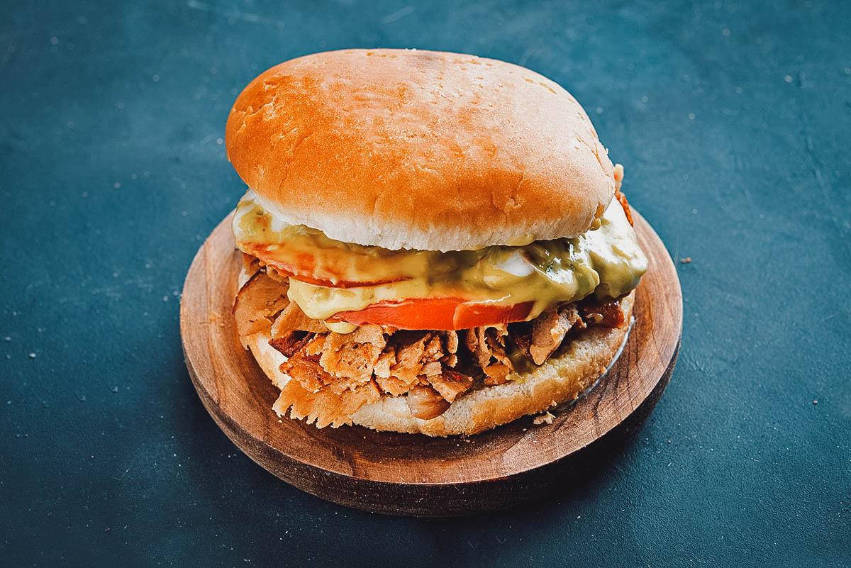 Churrasco Italiano, a popular sandwich in Chile