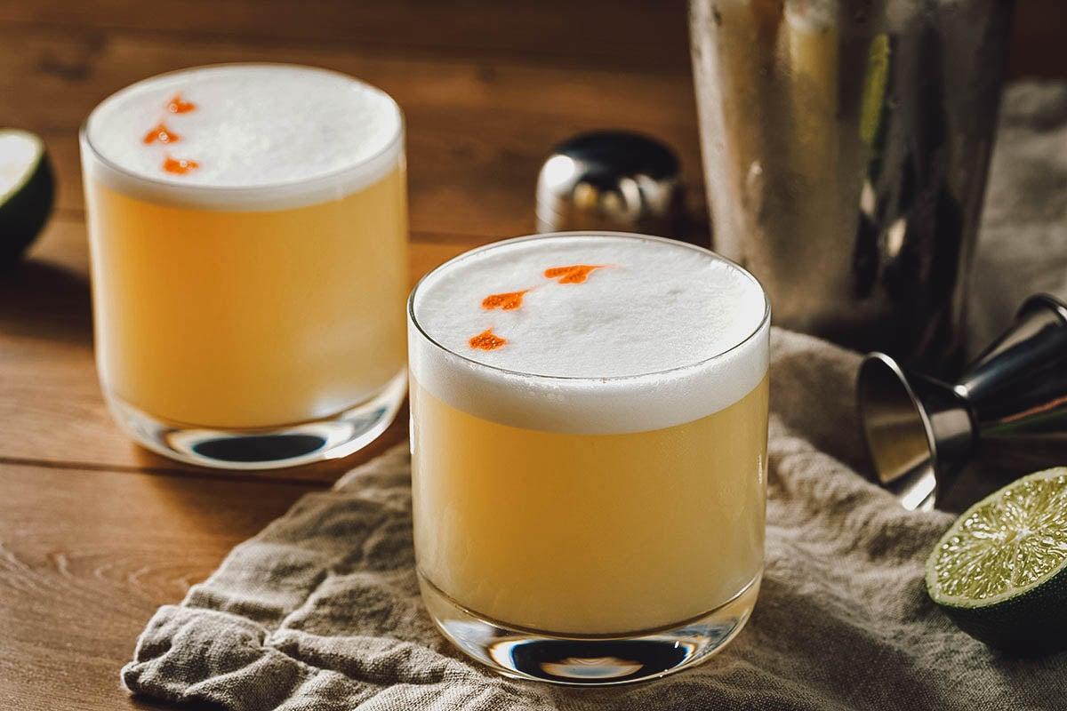Pisco sour, a classic Chilean cocktail